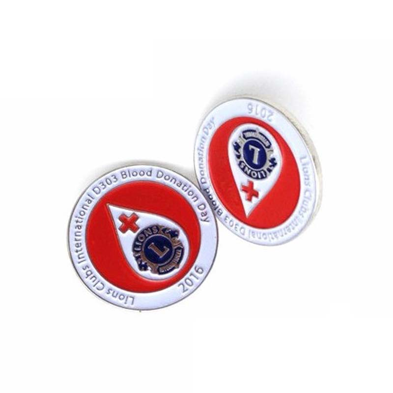 Blood Donation Metal Lapel Pin