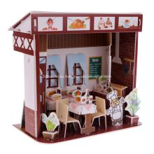 Rompecabezas 3D de restaurante occidental