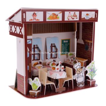 3D головоломка Западной Ресторан