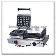 K321 2 Köpfe Tischplatte Elektrische Edelstahl Waffeleisen
