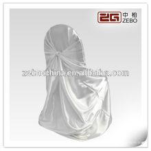 Heiße verkaufende verschiedene Farben vorhandener GroßhandelsSatin-weiße Stuhl-Abdeckungen