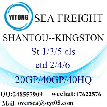 Shantou Porto Mar transporte de mercadorias para Kingston