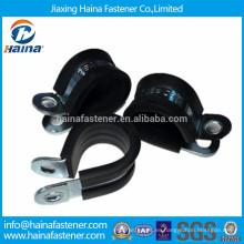 R Tipo Fixing Cable Abrazaderas de manguera recubiertas de goma