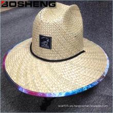 Sombrero de paja recortado de los hombres de la manera de la promoción de los pantalones anchos de Panamá
