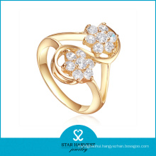 Gold Plated Sterling Silver Ring with AAA Zircon Plated (R-0328)