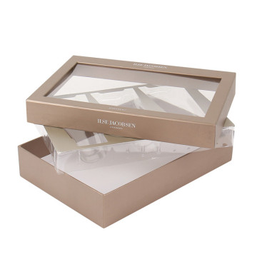 Gift box with clear window for skin-care products