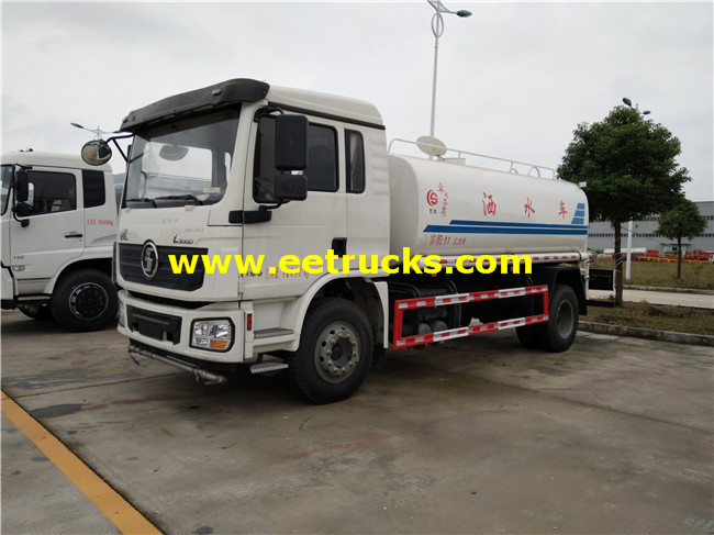 11m3 SHACMAN Water Tanker Trucks