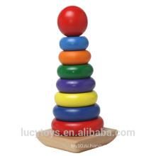 Радуга цвет деревянная игрушка укладчик