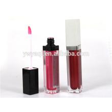 Prix bas d'excellente qualité fabriqué cosmétiques brillant à lèvres longue durée avec brosse