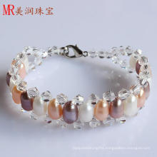 Cheap Cultured Freshwater Pearl Bracelet (EB1523-1)