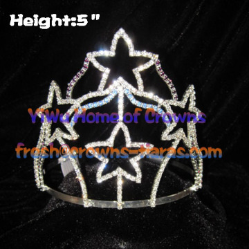 5-Zoll-Star Shaped Pageant Kronen