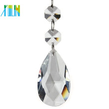 Crystal Glass Faceted Chandelier Lamp Pendant