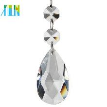 Pingente de lâmpada de cristal facetada de cristal