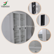 KD structure manufacture glass door sliding sotrage cabinet