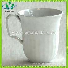 Copo de cerâmica por atacado, copo de cerâmica branca