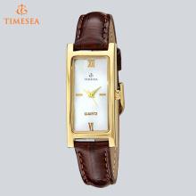 Quadratisch geformte klassische Legierungs-Quarz-Armbanduhr für Damen 71268