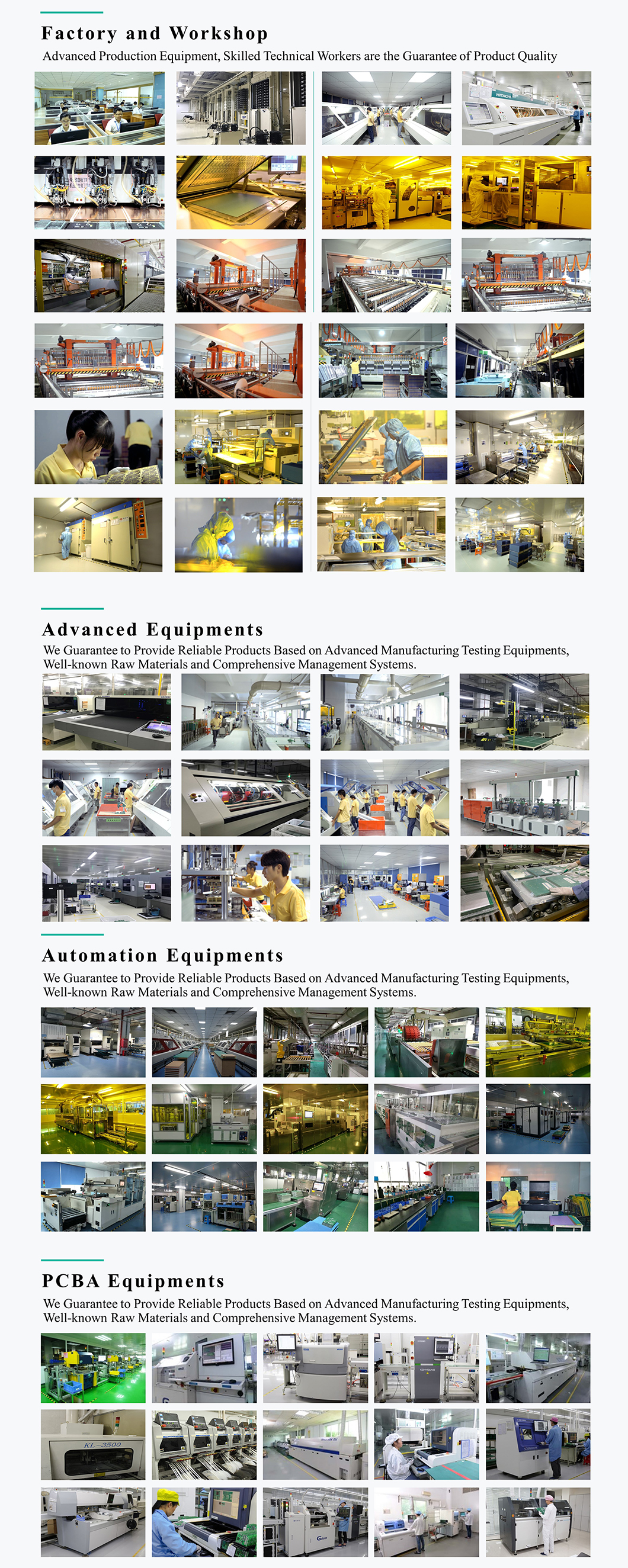 Advanced Production Equipment, Skilled Technical Workers are the Guarantee of Product Quality