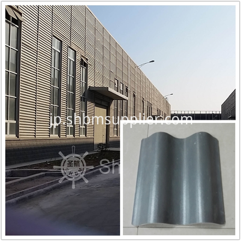Fireproof Green Glazed MgO Roof Tiles