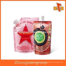 Vivid print heat seal liquid packaging plastic bag for beverage