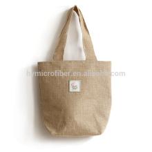 Preço fino personalizado durável portátil juta sacola