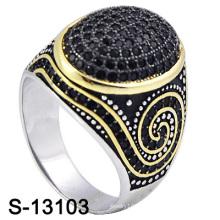 2016 Мода Ювелирные изделия 925 Серебряный Micro Настройка мужчин кольцо (S-13103)