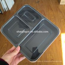 Recipientes Premium Meal Prep, tampa hermética, rótulo particular, cofre plástico para microondas, 1,2,3compartment