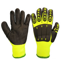 Cut and TPR Impact Resistant Anti Vibration Work Safety Glove