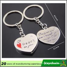 Corrente chave da forma do coração para amantes