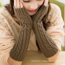 Мода Красочные Длинные Перчатки, Вязать Узор Шерсть Руки Теплые Перчатки Оптом