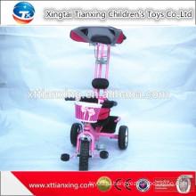 Новая популярная фабрика прямых продаж трицикла безопасности детей / игрушка трицикла младенца с удобной ручкой адвокатского сословия и крыши