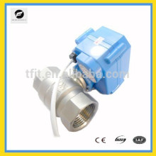 """2-way CR05 mini DC3-6V 3/4"""" NPT Stainless Steel 304 motorized operated ball valve with 5wires"""