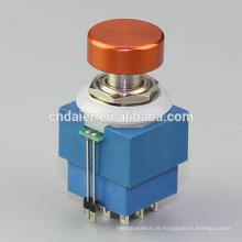 Daier 3PDT botão colorido interruptor de pé, pedal com LED @