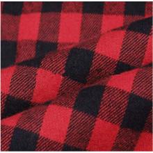Tissu de flanelle de coton teints par vente chaude de tissu à carreaux pour des chemises