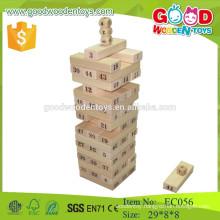 2015 stack jenga block natural color wooden jenga toys