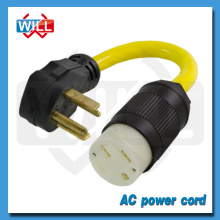 UL CUL 10AWG SRDT NEMA 14-30P power cord to NEMA 14-30R
