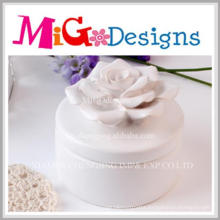 Charming Artware Craft Gift Ceramic Flower Jewelry Box