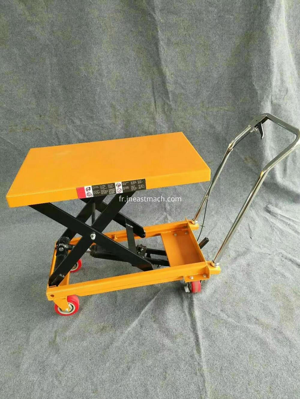 1 7m Warehouse Trolley Manual Hydraulic Scissor Lift Cart