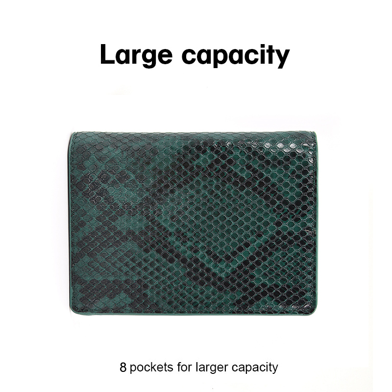 Fashion Design Slim Python Leather Passport Cover