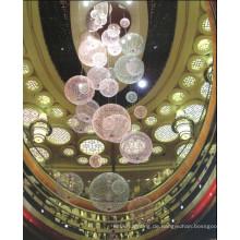 Modernes Hotel Dekorative Kugel Optische Faser