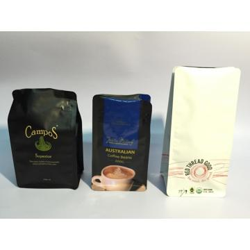 Flat Bottom Coffee Pouch med ventil