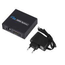 1 x 2 HDMI Splitter Support 1080p 3D UE Power