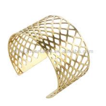 Gold bangles latest designs hollow geometrical shape women's statement bangles fashion bracelets bangles jewellery manufacturer