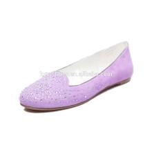 2015 Прямая фабрика Новый Vintage женщин в случайный заклепки круглый Toe балета Квартиры обувь