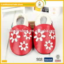 Bestes verkaufendes hochwertiges Tiermuster echtes Schaffell echtes Leder Baby Schuhe