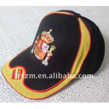 100% Cotton Brushed Baseball Cap With Red Bordure