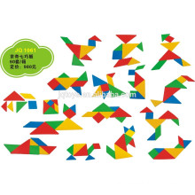 JQ1061 Hotsale Kids Educational Creative Plastic Tangram Domino Puzzle Toy