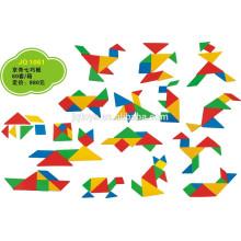 JQ1061 Hotsale детей образования творческих пластиковых Tangram домино головоломка игрушка
