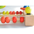 Children's Educational Beads Wooden Toys Supplier OEM/ODM Animal&Fruit Patterns Printing Wood Bead for Baby