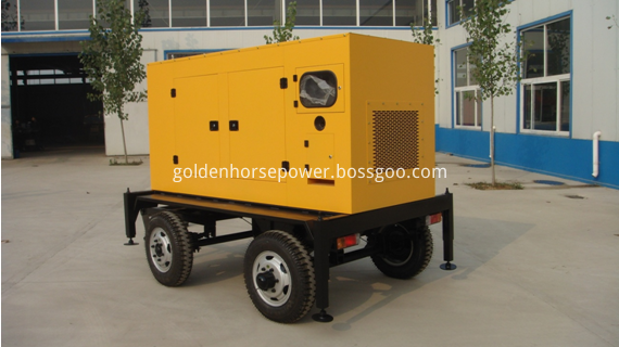 4 wheel trailor and mobile generator