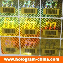 Security 3D Laser Barcode Hologram Stickers